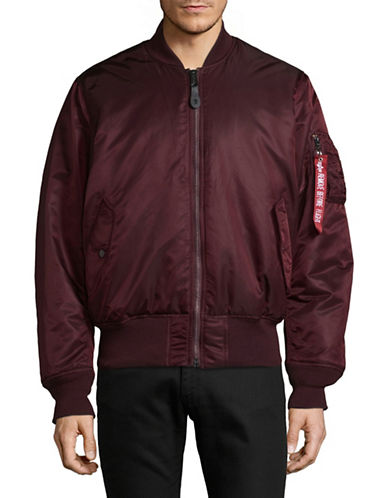Alpha Industries Flight Nylon Bomber Jacket-PURPLE-Large