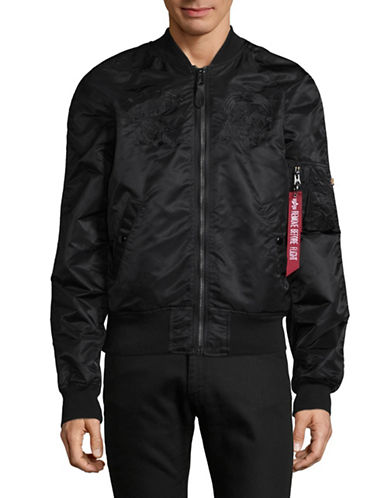 Alpha Industries MA-1 Souvenir Shinto Reversible Bomber Jacket-BLACK-X-Large