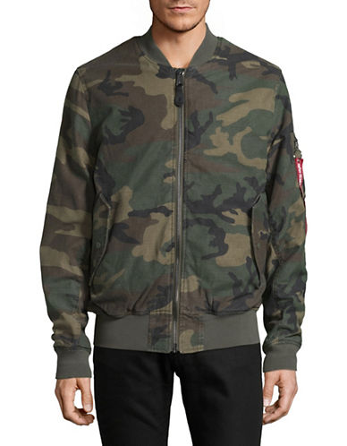 Alpha Industries MA-1 Heavy Vintage Cotton Bomber Jacket-GREEN-Large 89379210_GREEN_Large