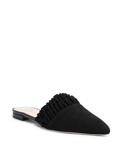 Beatriz Ruffled Suede Mules by Kate Spade New York