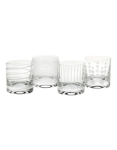 Mikasa Cheers Double Old Fashion Glass  Set Of 4-CLEAR-One Size