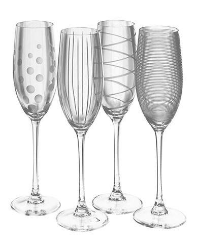 Mikasa Cheers Flute Set of 4-CLEAR-One Size