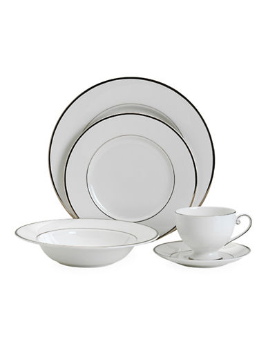 Mikasa Cameo Platinum 5 Piece Placesetting Set-WHITE-One Size