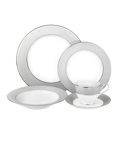 Mikasa Parchment 5 Piece Placesetting Set-WHITE-One Size