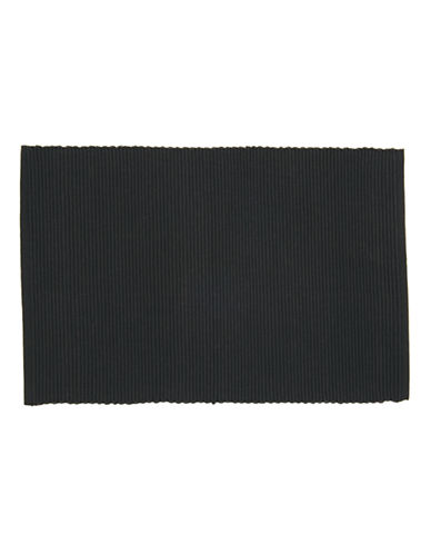 Now Designs Ribbed Placemat-BLACK-Placemat