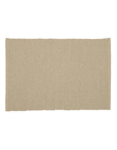 Now Designs Ribbed Placemat-LIGHT TAUPE-Placemat