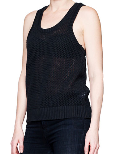 Arborist Crochet Tank-BLACK-Medium/Large