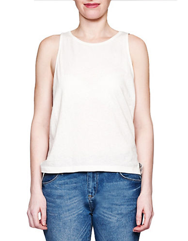 Held In Common Cara Tanktop-WHITE-Large