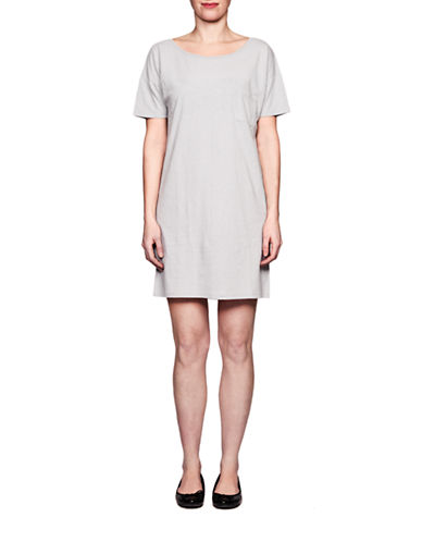 Held In Common Amie T Shirt Dress-GREY-X-Large