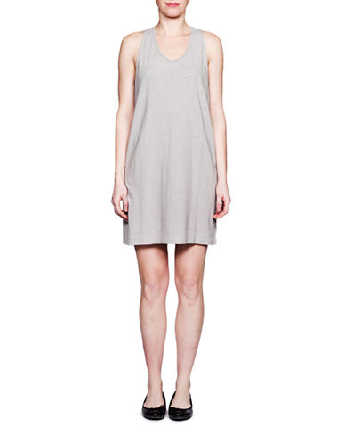Held In Common Renee Tank Dress-GREY-X-Small