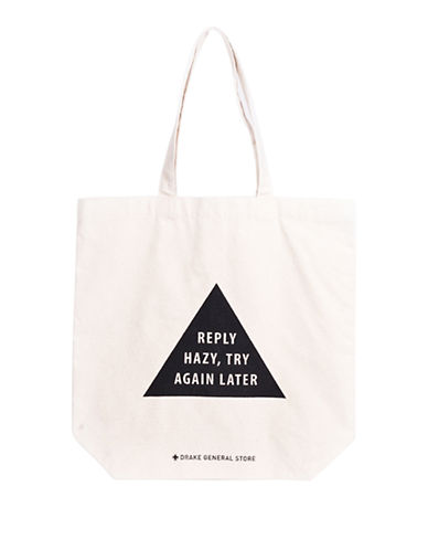 Drake General Store Magic 8 Ball Tote-WHITE-One Size