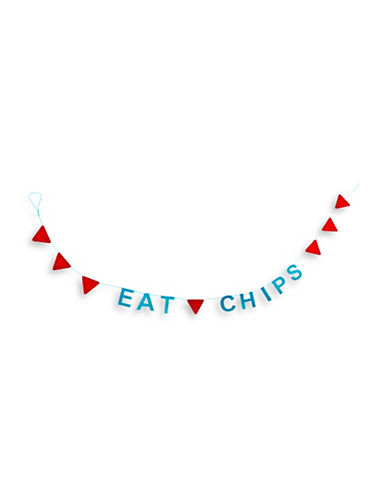 Milton Crawford Eat Chips Party Garland-NO COLOUR-One Size