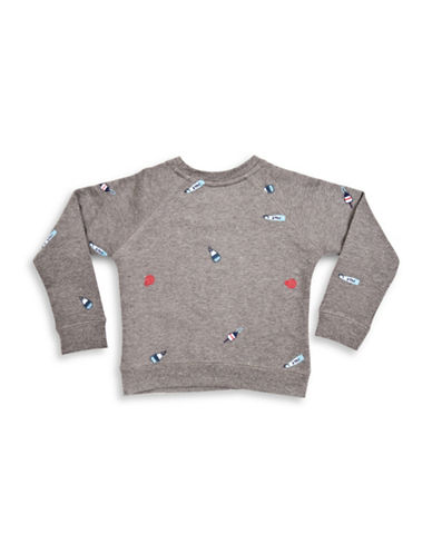 Drake General Store Embroidered Buoy Sweatshirt-MULTI-Medium