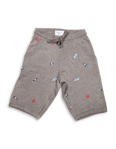 Drake General Store Embroidered Buoy Sweat Shorts-MULTI-Small