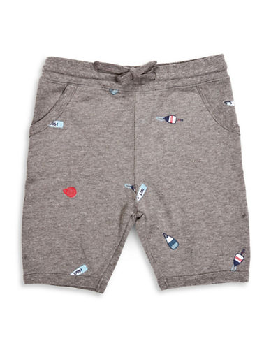 Drake General Store Embroidered Buoy Sweat Shorts-GREY MULTI-12-18 Months