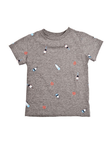 Drake General Store Buoy Short Sleeve T-Shirt-GREY MULTI-18-24 Months