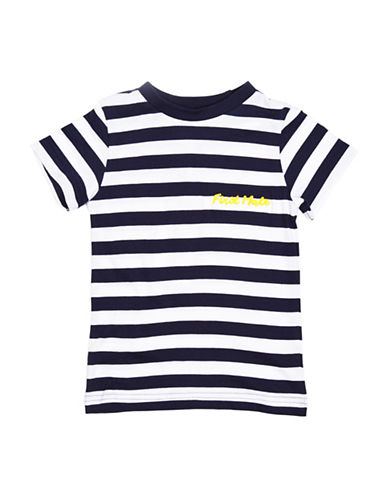 Drake General Store First Mate Stripe T-Shirt-BLUE-12-18 Months