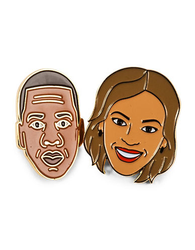 Drake General Store Beyonce and Jay Z Two-Pin Set-NO COLOUR-One Size