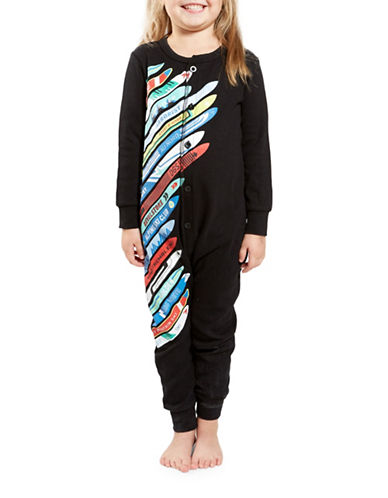 Drake General Store Ski Panel Graphic One Piece-MULTI-COLOURED-8-9