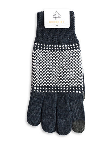 Drake General Store Nordic Multi-Tone Gloves-CHARCOAL-One Size