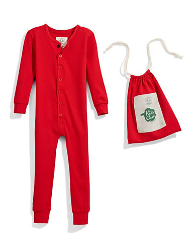 Drake General Store Thermal Footed Sleeper-RED-4-5