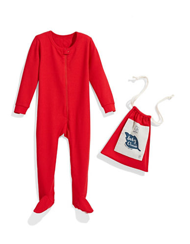 Drake General Store Thermal Baby Footed Pyjama-RED-6-12 Months