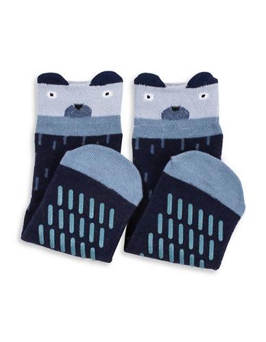 Drake General Store Bear Animal Socks-BLUE MULTI-2-3