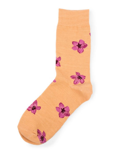 Drake General Store Ontario Trillium Provincial Flower Socks-PURPLE-One Size