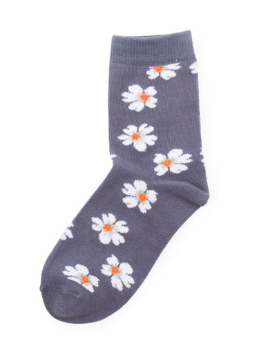 Drake General Store Nova Scotia Provincial Flower Socks-MULTI-2-3