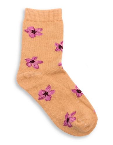 Drake General Store Nunavut Saxifrage Provincial Flower Socks-PURPLE MULTI-2-3