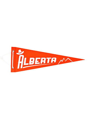 Drake General Store Alberta Provincial Pennant-ORANGE-One Size