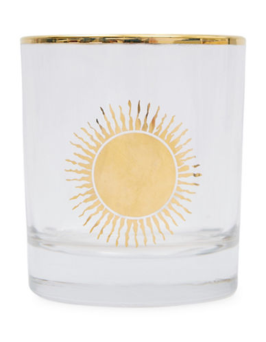 Drake General Store Printed Glass Tumbler-YELLOW-One Size