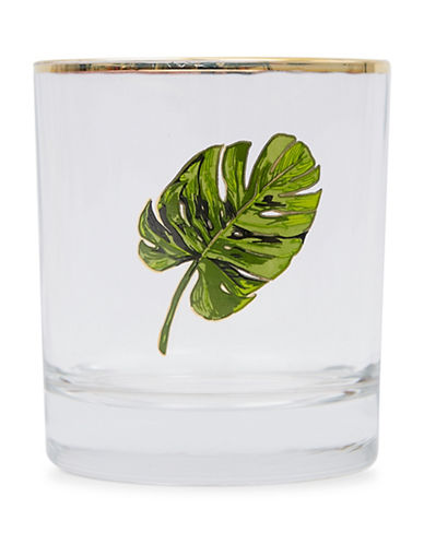 Drake General Store Printed Glass Tumbler-GREEN-One Size