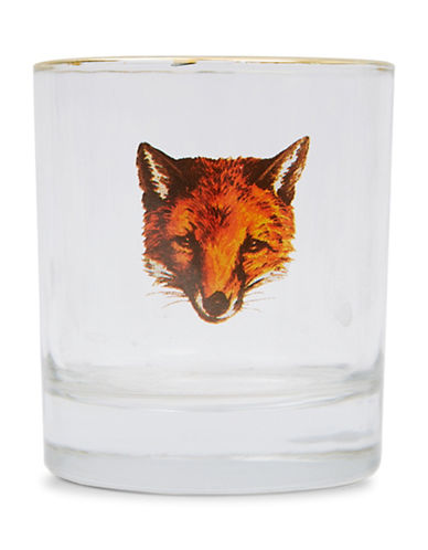 Drake General Store Printed Glass Tumbler-BROWN-One Size