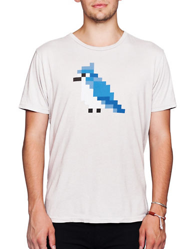 Drake General Store Pixel Blue Jay Graphic Tee-BLUE-X-Small