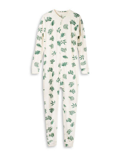 Drake General Store Foliage-Print Camp Onesie-GREEN-X-Small
