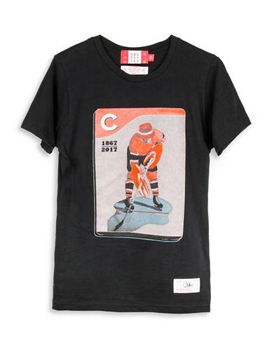 Drake General Store Canada 150th Chuck Hughes T-Shirt-BLACK-Medium