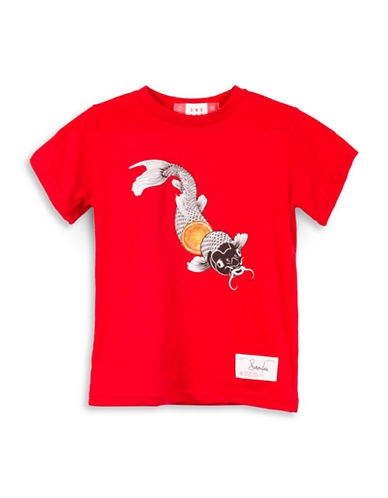 Drake General Store Canada 150th Susur Lee Cotton T-Shirt-RED-12-18 Months