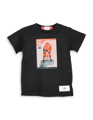 Drake General Store Canada 150th Chuck Hughes Cotton Tee-BLACK-18-24 Months