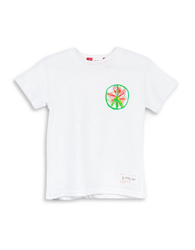 Drake General Store Canada 150th Leeloodles Cotton T-Shirt-WHITE-4-5
