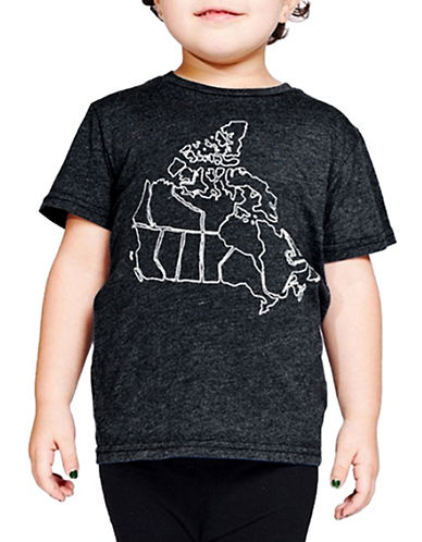 Drake General Store Graphic-Print T-Shirt-CHARCOAL-10-12