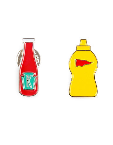 Drake General Store Ketchup and Mustard Two-Pin Set-NO COLOUR-One Size