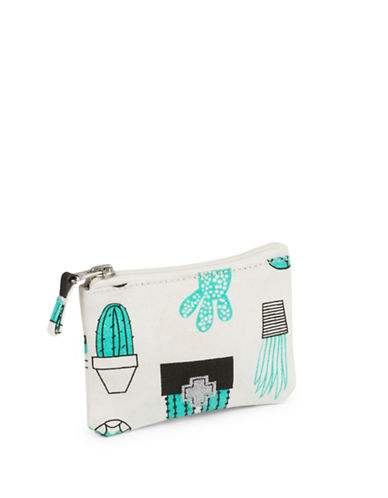Drake General Store Small Cactus Printed Zip Canvas Coin Purse-NO COLOUR-One Size