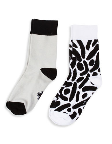 Drake General Store Two-Pack Blog Print Socks Set-NO COLOUR-One Size