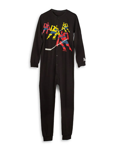 Drake General Store Arborist Hockey Night Romper-BLACK-Medium