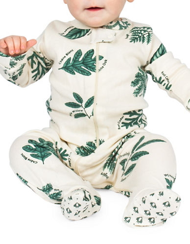 Drake General Store Foliage-Print Footie-OFF WHITE-18-24 Months