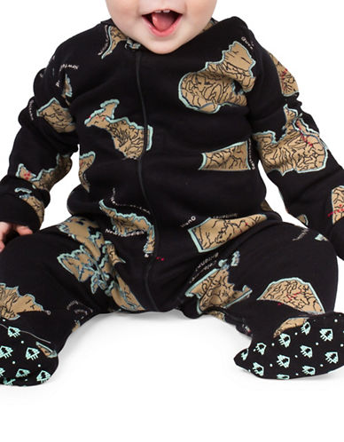 Drake General Store Province-Print Footie-BLACK-18-24 Months