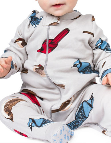 Drake General Store Bird Print Footie-BLUE-0-6 Months