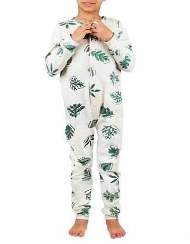 Drake General Store Foliage Print One-Piece-OFF WHITE-8-9