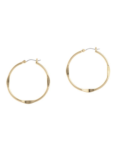 Nine West Hoop Earring-GOLD-One Size